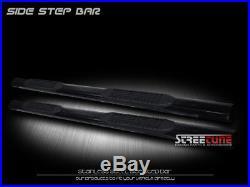 4 Tube Black Side Step Nerf Bars Running Boards 01-18 Silverado/Sierra Crew Cab