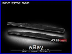 4 Tube Blk Side Step Nerf Bars Rail Running Boards 99-18 Silverado Regular Cab
