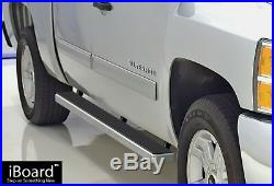 4 iBoard Running Boards Nerf Bars Fit 01-13 Chevy Silverado/GMC Sierra Crew Cab