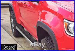 4 iBoard Running Boards Nerf Bars Fit 15-18 Chevy Colorado GMC Canyon Crew Cab