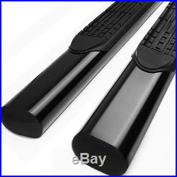 4Black Oval Side Step Nerf Bar/Running Board for 01-16 GMC Sierra Crew Cab 4dr