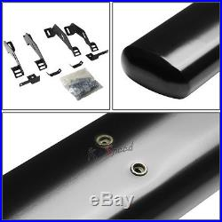 4Black Oval Side Step Nerf Bar/Running Board for 88-00 Chevy/GMC C/K Ext Cab