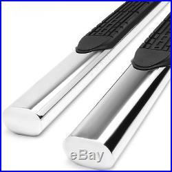 4Chrome Oval Side Step Bar/Running Board for 01-16 Chevy Silverado Crew Cab 4dr