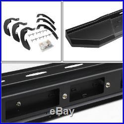5.5 Aluminum Black Step Bar Running Board For 07-17 Chevy Silverado Crew Cab