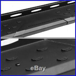 5.5Running Boards Step Bar For 07-17 Chevy Silverado Crew Cab Black Left+Right