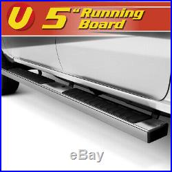5 Chrome Running Boards Side Steps Fits 2015-2020 Chevy Colorado Crew Cab