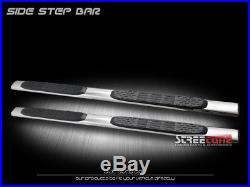 5 Chrome Stainless Side Step Bars Running Boards 07-18 Chevy Silverado Crew Cab