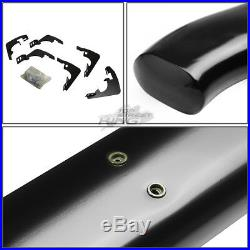 5 Curved Oval Coated Step Bar Running Board for Colorado GMC Extended Cab 15-20