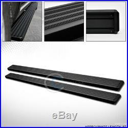 5 Matte Blk Aluminum Side Step Running Boards I4 07-18 Chevy Silverado Crew Cab