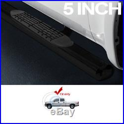 5 Oval Black Side Step Nerf Bars Running Boards 01-18 Chevy Silverado Crew Cab