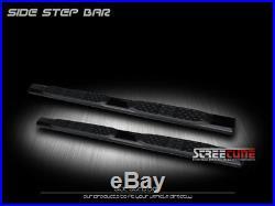 5 Tube Blk Side Step Nerf Bar Rail Running Board 99-18 Silverado/Sierra Ext Cab