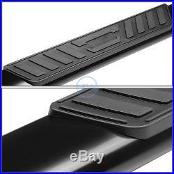 5Black Oval Step Nerf Bar Running Board For 1999-2016 Silverado/Sierra Ext Cab