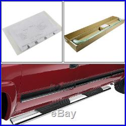 5Chrome Oval Side Step Bar/Running Board for 01-16 Chevy Silverado Crew Cab 4dr