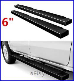 6 07-19 Silverado/Sierra Crew Cab Nerf Bars Side Steps Running Boards withCovers