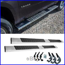 6 07-19 Silverado Sierra Ext Cab Nerf Bars Side Step OE Style Running Boards