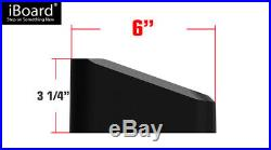 6 Black iBoard Running Boards Fit 01-07 Chevy Silverado/GMC Sierra Crew Cab