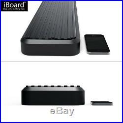 6 Black iBoard Running Boards Nerf Bars Fit 99-16 Silverado/Sierra Regular Cab