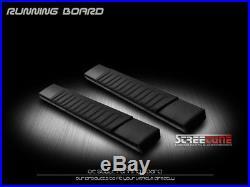 6 OE Aluminum Black Side Step Running Boards 07+ Silverado/Sierra Standard Cab