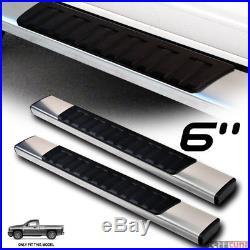 6 OE Aluminum Silver Side Step Running Boards 07+ Silverado/Sierra Standard Cab