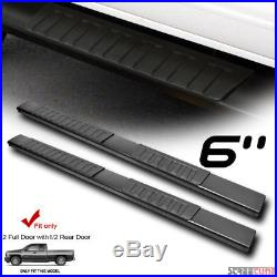 6 OE Aluminum Steel Blk Side Step Running Board 07-18 Silverado/Sierra Extended