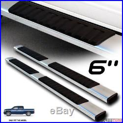 6 OE Aluminum Steel Silver Side Step Running Boards 07-17 18 Silverado Crew Cab