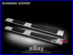 6 OE Aluminum Steel Silver Side Step Running Boards 07-18 Silverado/Sierra Ext