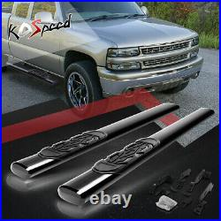 6 OVAL Tube Running Board Side Step Bar for 88-00 Chevy/GMC C/K Extended Cab