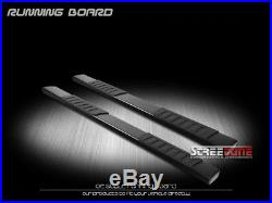 6 Oe Aluminum Steel Blk Side Step Running Boards 15-18 Colorado/Canyon Crew Cab