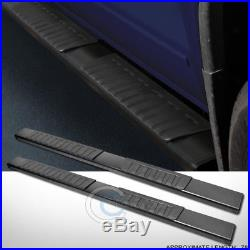 6 Oe Style Aluminum Blk Side Step Rail Running Board 07-18 Silverado Ext/double