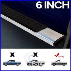 6 Oe Style Aluminum Side Step Rail Running Boards 07-18 Silverado Regular Cab