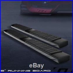 6 Oe Style Hd Aluminum Blk Side Step Running Board 2007-2018 Silverado Crew Cab