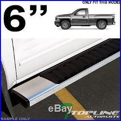 6 Oe Style Hd Aluminum Side Step Running Boards 2007-2018 Silverado Reg/std Cab
