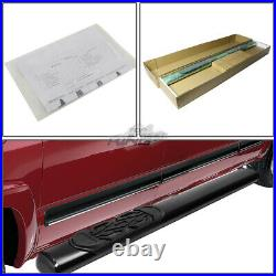 6 Oval Coated Step Bar Running Boards for GMC Chevy C/K Extended Cab 88-00