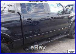 6 Running Boards For 07-18 Silverado/Sierra Extended Double Cab Black Side Step