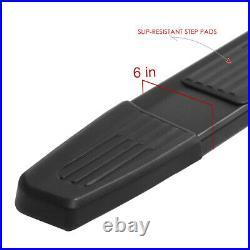 6 W BLACK ALUMINUM Step Bar Running Boards for 19-20 Silverado Sierra Crew Cab