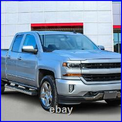 6 W STAINLESS Step Bar Running Boards for 07-19 Silverado Sierra Extended Cab