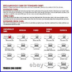 6W STAINLESS Side Step Bar Running Board for 07-19 Silverado Sierra Regular Cab