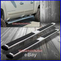 87 ABS Chrome T1 Flat Running Board Nerf Bars No-Drill For Chevy 07-16 Crew Cab