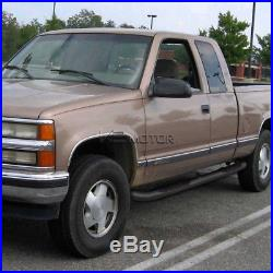 88-98 Chevy GMC C/K Extended Cab 2Dr Black SS Running Boards Side Step Nerf Bar