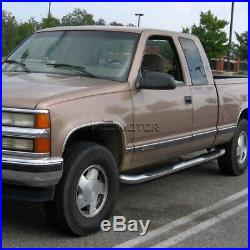 88-98 Chevy GMC C/K Extended Cab 2Dr Chrome Running Boards Side Step Nerf Bar