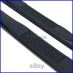 88-98 Chevy GMC C/K Regular Cab 2dr Black Running Boards Side Step Nerf Bars