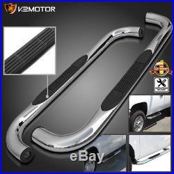 88-98 Chevy GMC C/K Regular Cab 2dr Chrome Running Boards Side Step Nerf Bars