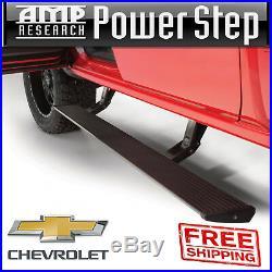 AMP PowerStep Electric Step Bars PlugNPlay + Light Kit 14-18 Silverado Sierra