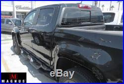 APS Black Running Boards For 2007-2019 Chevy Silverado GMC Sierra 1500 2500HD