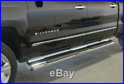 APS Chrome Running Boards For 2007-2019 Chevy Silverado GMC Sierra 1500 2500HD