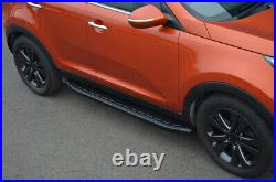 Black Aluminium Side Steps Bars Running Boards To Fit Chevrolet Captiva (2006+)
