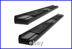 Black OE Style Running Boards For 19-22 Chevy Silverado GMC Sierra Crew Cab