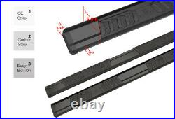 Black Running Board Steps For 15-21 Chevy Colorado GMC Canyon Extended Cab