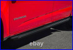 Black Running Boards For 15-21 Chevy Colorado GMC Canyon Crew Cab