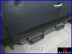 Black Running Boards For 19-21 Chevy Silverado GMC Sierra Crew Cab